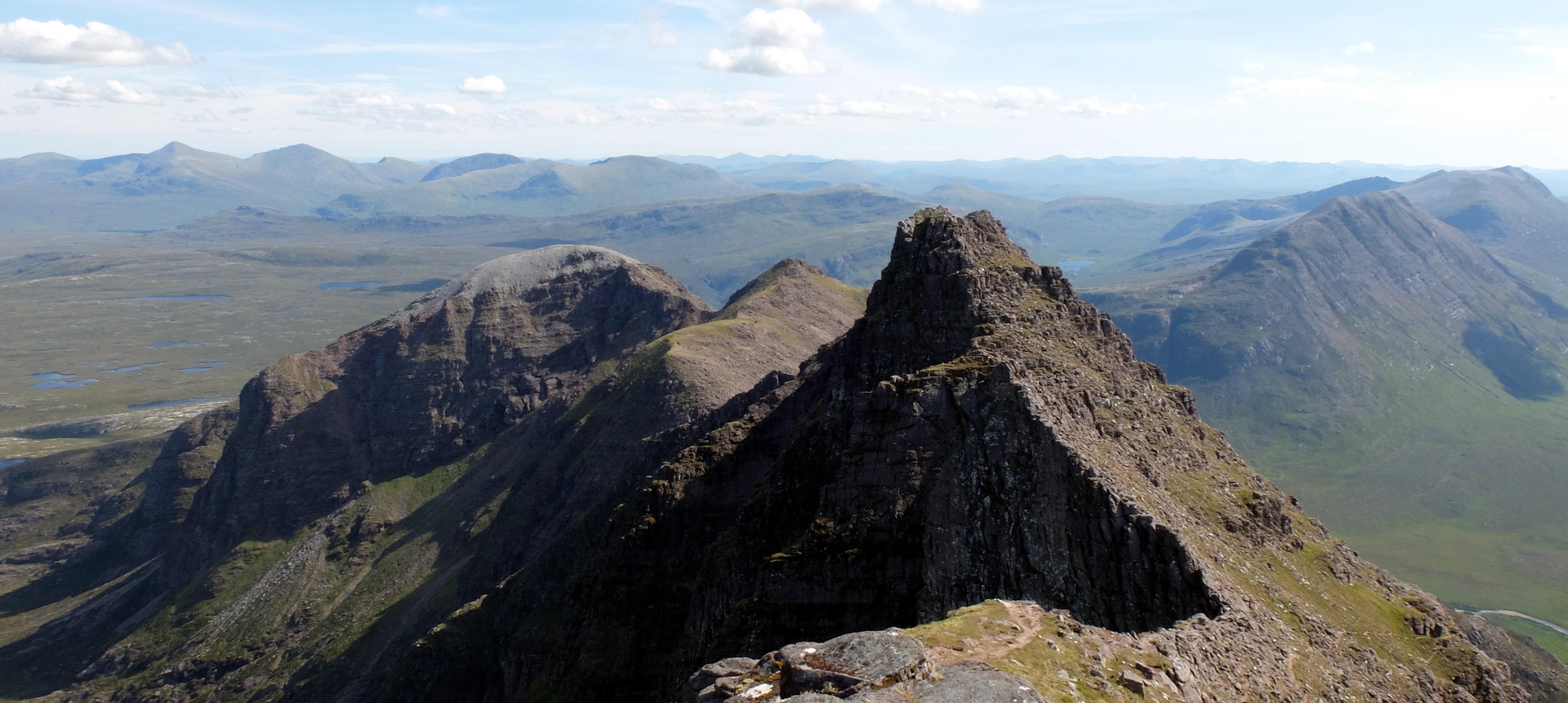 View of the main An Teallach ridge