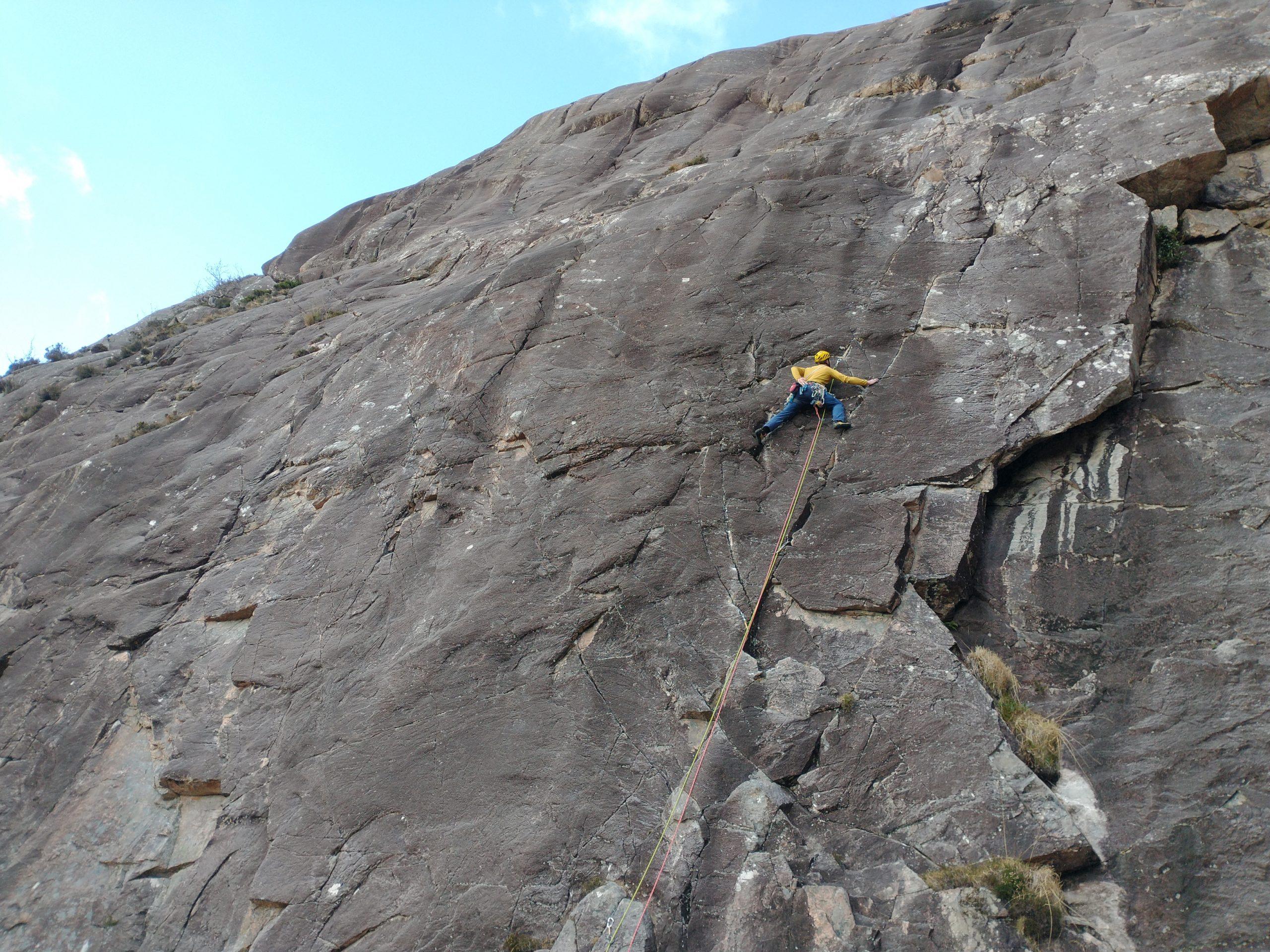 Guided Climbing on the Main Wall at Diabaig