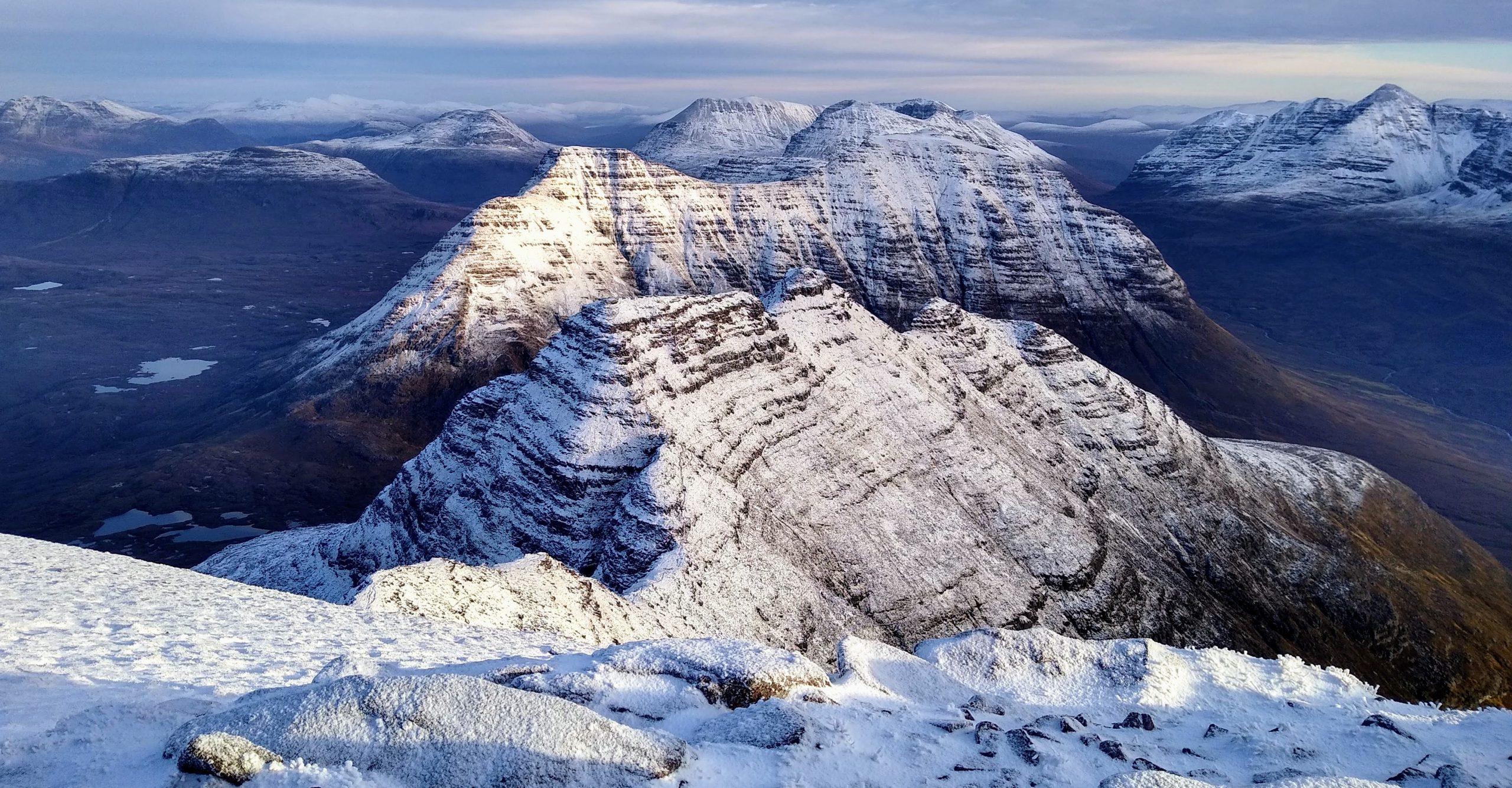 The Horns of Alligin in Winter
