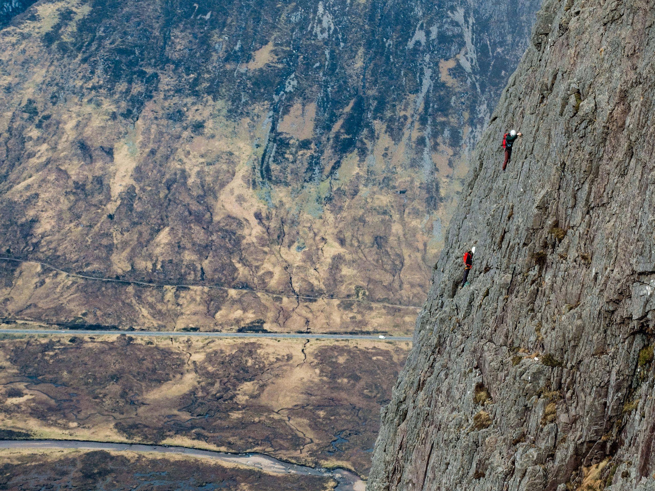 Climbing Glencoe