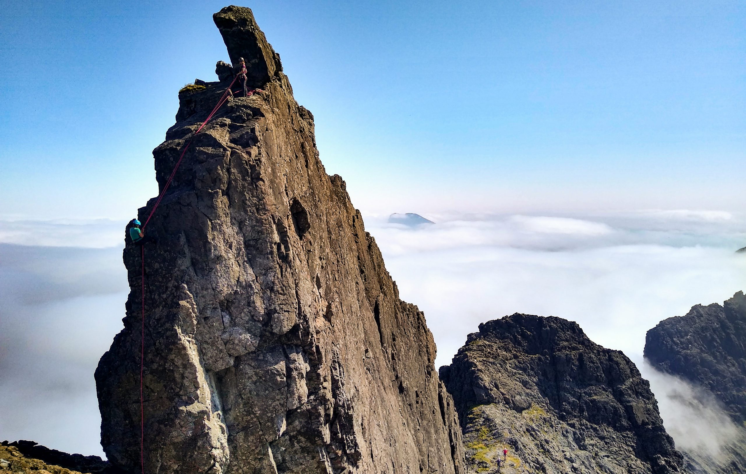 Abseil on the Inaccessible Pinnacle
