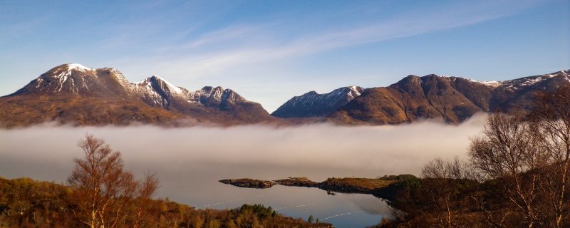 Cloud Inversion on the Torridon Mountains
