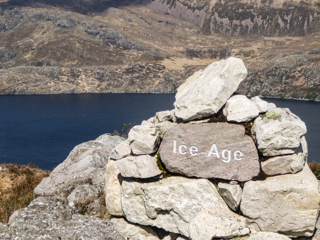 Cairn in Torridon with Ice Age Stone